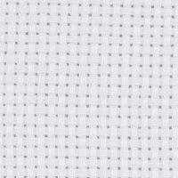 Toile point de croix Aida, dim. 50x50 cm, 43 pts/10 cm, blanc, 1 pièce