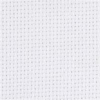 Toile points de croix Aida, dim. 50x50 cm, 70 pts/10 cm, blanc, 1 pièce