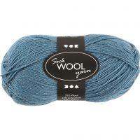 Pelote de laine pour chaussettes, L: 200 m, pétrole, 50 gr/ 1 boule