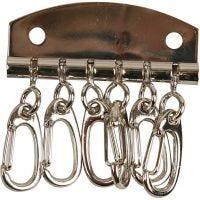 Plaque à clés métallique, L: 4,5 cm, 1 pièce