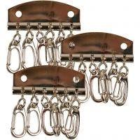 Plaque à clés métallique, L: 4,5 cm, 15 pièce/ 1 Pq.
