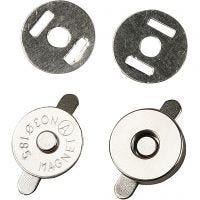 Fermoirs magnétiques, d: 18 mm, 4 pièce/ 1 Pq.