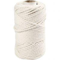 Cordon pour macramé, L: 55 m, d: 4 mm, blanc cassé, 330 gr/ 1 rouleau