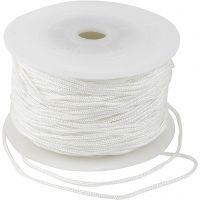 Cordon pour macramé, ép. 2 mm, blanc, 50 m/ 1 rouleau