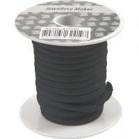 Cordon pour macramé, ép. 4 mm, noir, 5 m/ 1 rouleau