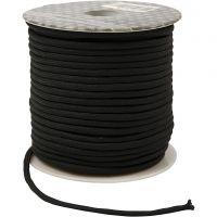 Cordon pour macramé, ép. 4 mm, noir, 40 m/ 1 rouleau