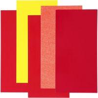 Color Dekor, harmonie rouge/orange/jaune, 5 flles ass./ 1 Pq.