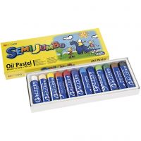 pastels à l'huile Mungyo Maxi, ép. 17 mm, couleurs assorties, 12 pièce/ 1 Pq.