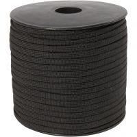 Cordon pour macramé, L: 5 mm, noir, 50 m/ 1 rouleau