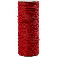 Ficelle papier, ép. 1,8 mm, rouge, 470 m/ 1 rouleau, 250 gr