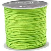 Corde pour macramé, ép. 1 mm, vert néon, 28 m/ 1 rouleau