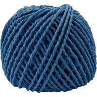 Ficelle de papier, ép. 2,5-3 mm, bleu foncé, 40 m/ 1 boule, 150 gr