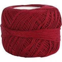 Pelote de fil de coton mercerisé, rouge antique, 20 gr/ 1 boule