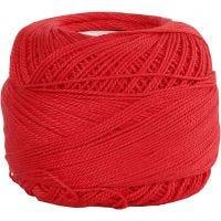 Pelote de fil de coton mercerisé, rouge, 20 gr/ 1 boule