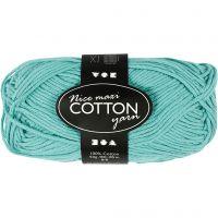 Pelote de fil de coton, dim. 8/8, L: 80-85 m, dim. maxi , vert, 50 gr/ 1 boule