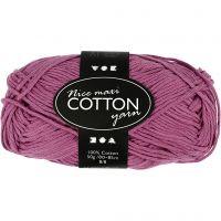 Pelote de fil de coton, dim. 8/8, L: 80-85 m, dim. maxi , violet, 50 gr/ 1 boule