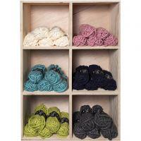 Pelote de laine acrylique épaisse, L: 17 m, dim. manga , couleurs assorties, 6x5 boule/ 1 Pq.