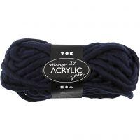Pelote de laine acrylique épaisse, L: 17 m, dim. manga , bleu foncé, 200 gr/ 1 boule