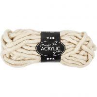 Pelote de laine acrylique épaisse, L: 17 m, dim. manga , blanc cassé, 200 gr/ 1 boule