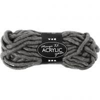 Pelote de laine acrylique épaisse, L: 17 m, dim. manga , gris, 200 gr/ 1 boule