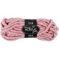 Pelote de laine acrylique épaisse, L: 17 m, dim. manga , rose, 200 gr/ 1 boule