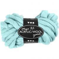 Pelote de laine acrylique épaisse, L: 15 m, dim. mega , turquoise, 300 gr/ 1 boule