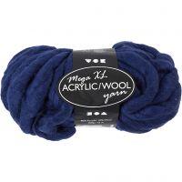 Pelote de laine acrylique épaisse, L: 15 m, dim. mega , bleu foncé, 300 gr/ 1 boule