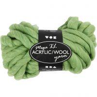 Pelote de laine acrylique épaisse, L: 15 m, dim. mega , vert citron, 300 gr/ 1 boule