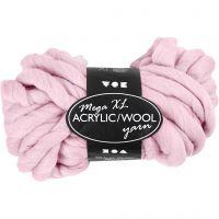 Pelote de laine acrylique épaisse, L: 15 m, dim. mega , rose, 300 gr/ 1 boule