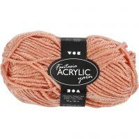 Pelote de laine acrylique Fantasia, L: 80 m, beige, 50 gr/ 1 boule