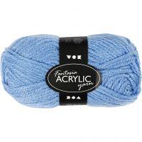 Pelote de laine acrylique Fantasia, L: 80 m, bleu, 50 gr/ 1 boule