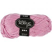 Pelote de laine acrylique Fantasia, L: 80 m, rose, 50 gr/ 1 boule