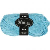 Pelote de laine acrylique Fantasia, L: 80 m, turquoise, 50 gr/ 1 boule