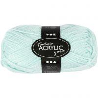Pelote de laine acrylique Fantasia, L: 80 m, vert menthe, 50 gr/ 1 boule