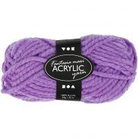 Pelote de laine acrylique Fantasia, L: 35 m, dim. maxi , violet, 50 gr/ 1 boule