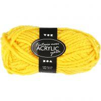 Pelote de laine acrylique Fantasia, L: 35 m, dim. maxi , jaune, 50 gr/ 1 boule