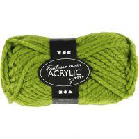 Pelote de laine acrylique Fantasia, L: 35 m, dim. maxi , vert, 50 gr/ 1 boule