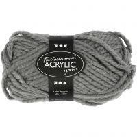Pelote de laine acrylique Fantasia, L: 35 m, dim. maxi , gris, 50 gr/ 1 boule