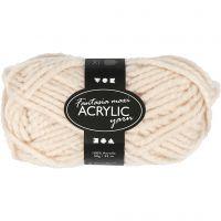 Pelote de laine acrylique Fantasia, L: 35 m, dim. maxi , beige, 50 gr/ 1 boule