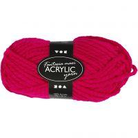 Pelote de laine acrylique Fantasia, L: 35 m, dim. maxi , fuchsia, 50 gr/ 1 boule