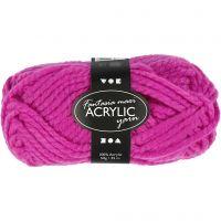 Pelote de laine acrylique Fantasia, L: 35 m, dim. maxi , cyclamen, 50 gr/ 1 boule