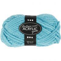 Pelote de laine acrylique Fantasia, L: 35 m, dim. maxi , turquoise, 50 gr/ 1 boule
