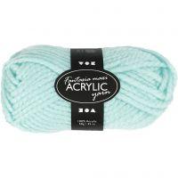 Pelote de laine acrylique Fantasia, L: 35 m, dim. maxi , vert menthe, 50 gr/ 1 boule