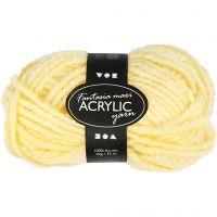 Pelote de laine acrylique Fantasia, L: 35 m, dim. maxi , jaune clair, 50 gr/ 1 boule