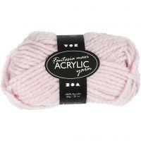 Pelote de laine acrylique Fantasia, L: 35 m, dim. maxi , rouge clair, 50 gr/ 1 boule