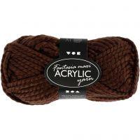Pelote de laine acrylique Fantasia, brun, 50 gr/ 1 boule