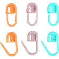 Marqueur de maille, L: 22 mm, vert, orange, violet, 30 pièce/ 1 Pq.
