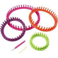 Métier à tricoter, d: 12-17-22-27 cm, 1 set