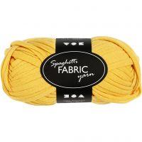 Pelote de fil spaghetti, L: 35 m, jaune, 100 gr/ 1 boule
