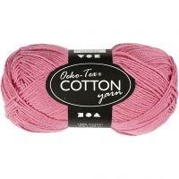 Pelote de fil de coton, dim. 8/4, L: 170 m, rose foncé, 50 gr/ 1 boule